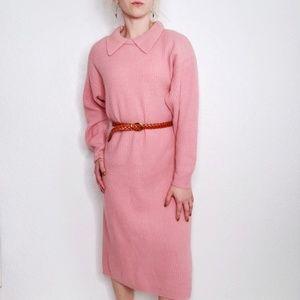 Vintage Outlander Lambswool Angora Sweater Dress